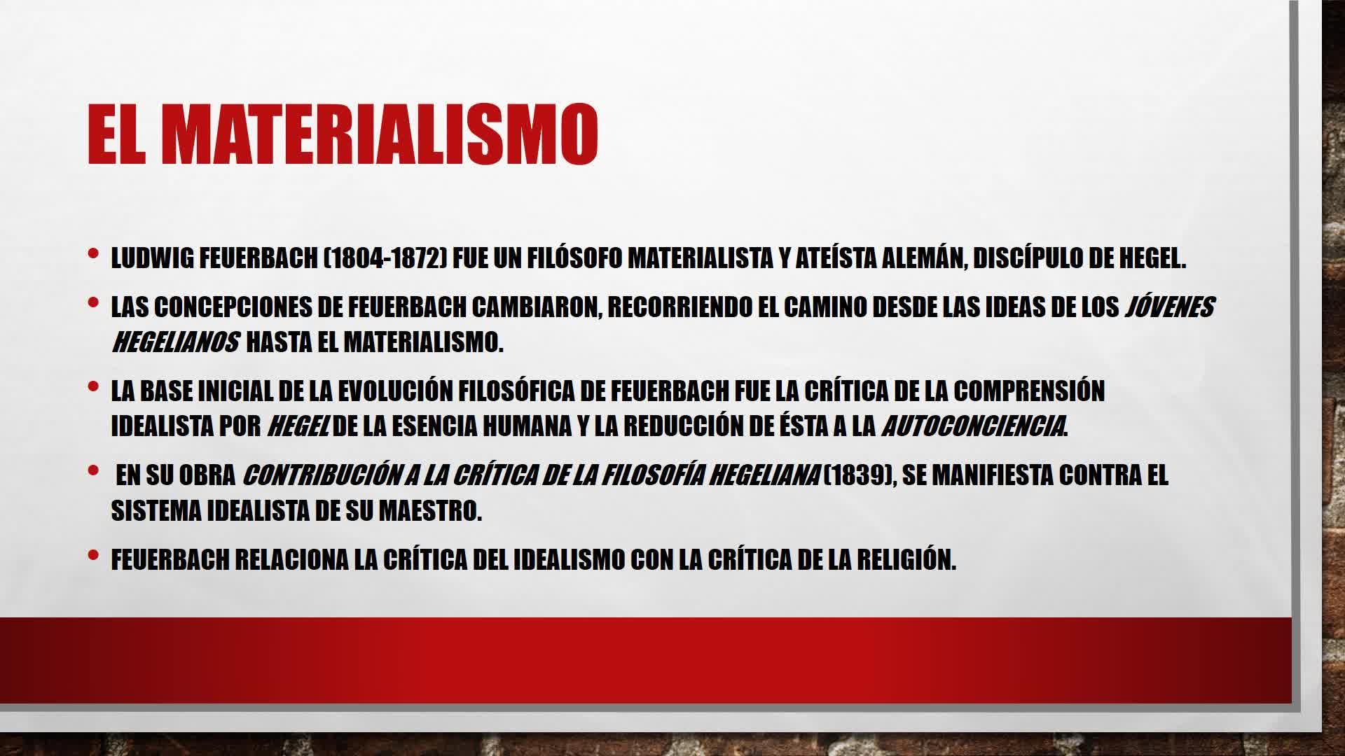 clase 8. Dialéctica y Materialismo. Introducción a la Economía