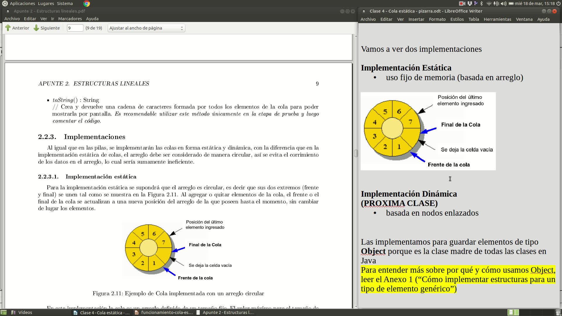 Clase 4 - TDA Cola (definición e implementación estática con arreglo circular)