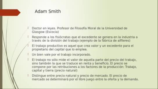 Clase 4. Escuela Cásica. Smith y Ricardo. Introducción a la Economía