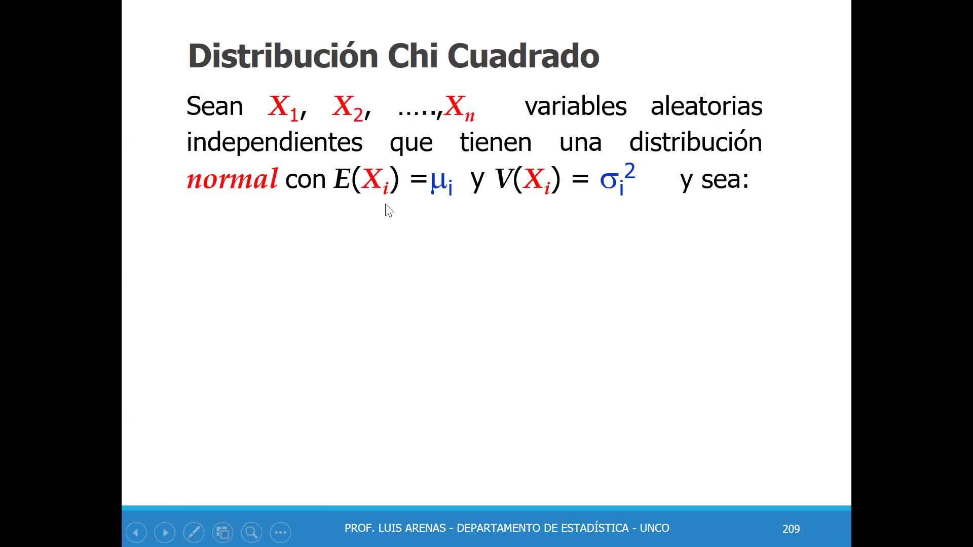 Probabilidad y Estadistica DistribucionesMuestrales1 Prof Luis Arenas