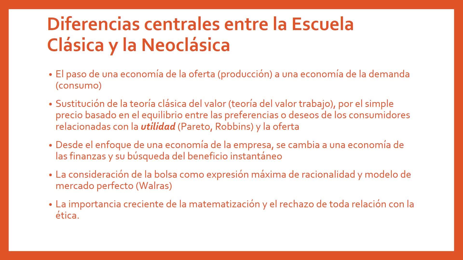 Clase 10. Escuela Neoclásica. Introducción a la Economía