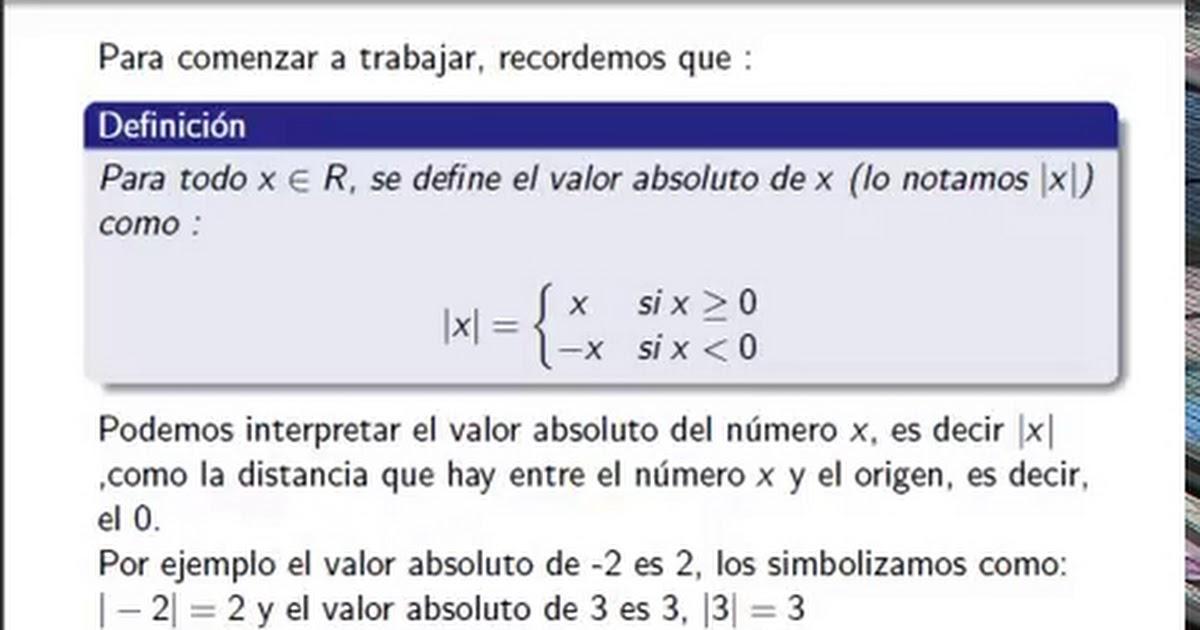 Matematica 1 - Valor Absoluto