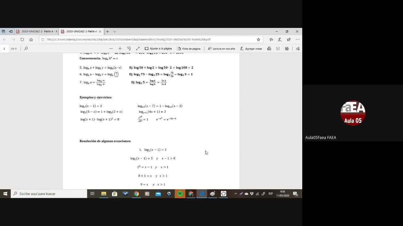 Matemática 1-Mod 2(Prof. Cerda)
