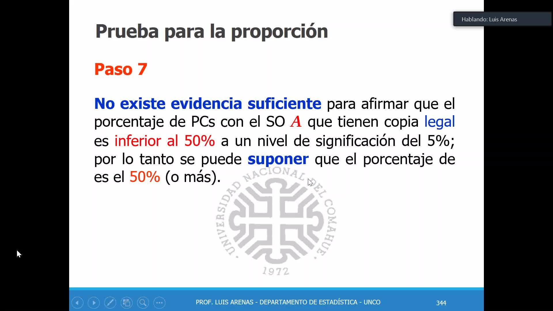 Probabilidad y Estadística - Teoría prueba de hipótesis 21/05/2020 Parte 2