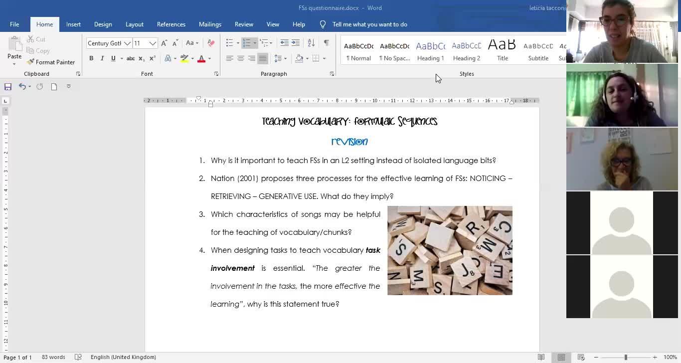 Revision Formulaic Sequences 28/05