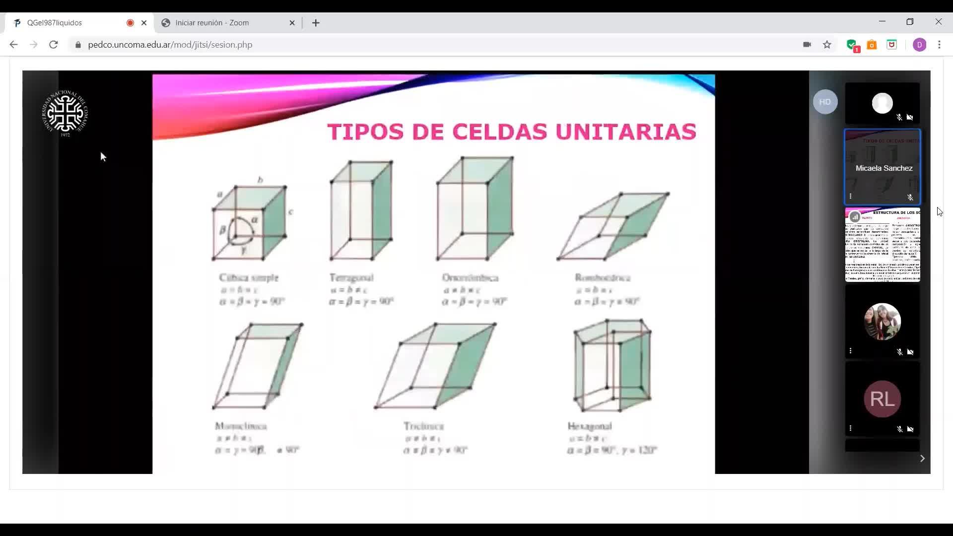 Ingeniería Agronómica-Química general e inorgánica-tema sólidos-unidad 7-vídeo N° 3