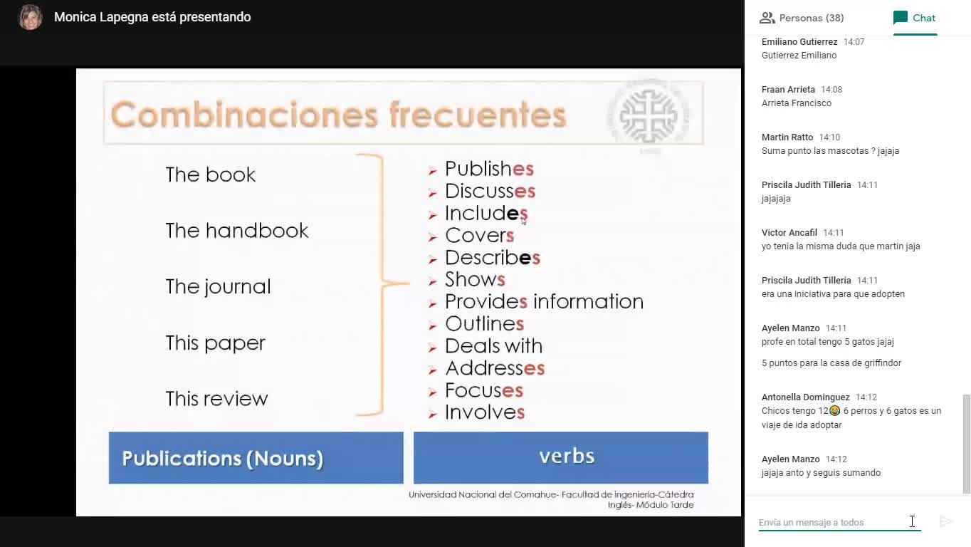 INGLÉS-Encuentro Virtual (Turno Tarde) 3 de junio