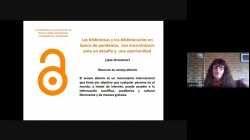 Webinar: Las bibliotecas y la información en Abierto