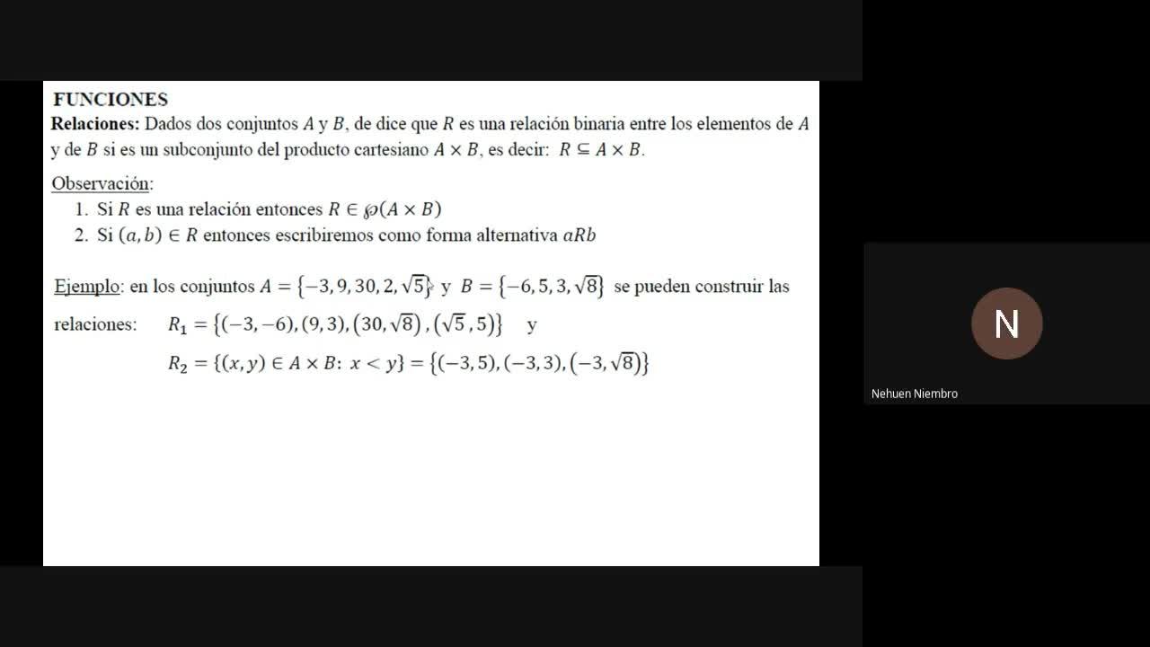 Álgebra I - Teoria - Funciones 1°parte - 8 de junio