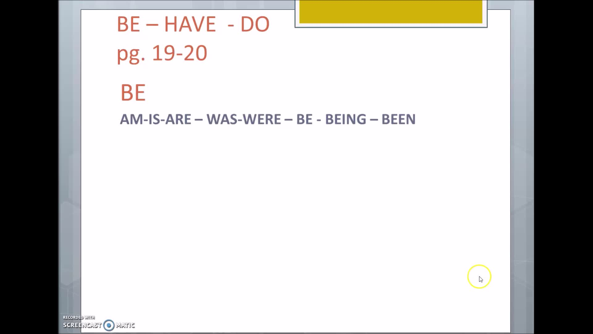 CLASE 12 - INGLÉS