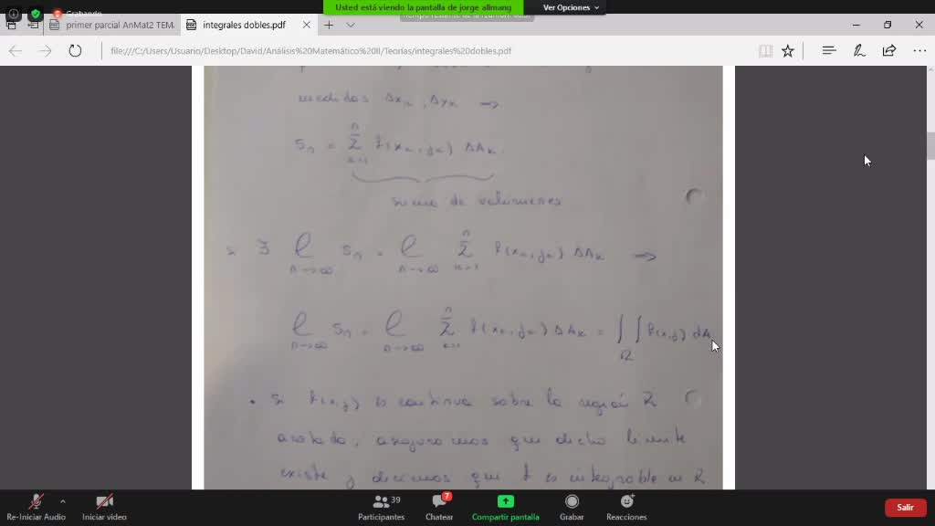 teoria primera parte Integrales dobles