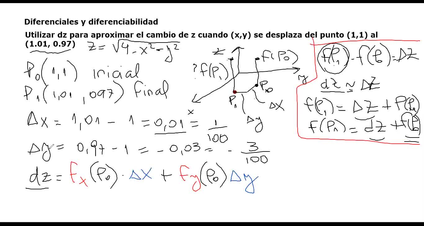 AUZA AMII Clase 57 2020-07-01 Diferenciales, ejemplo,