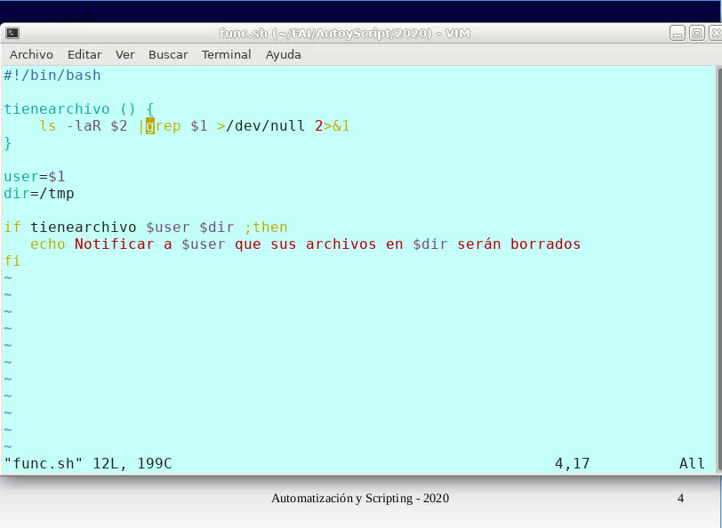 FAI - TUASSL - Automatización y scripting - Clase 4.3 (2020)