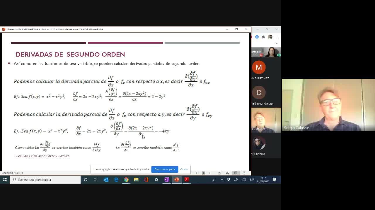 Clase- Funciones de dos Variables-01/07-Parte1