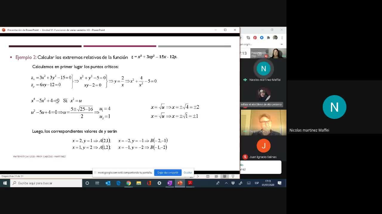 Clase- Funciones de dos Variables-01/07-Parte2
