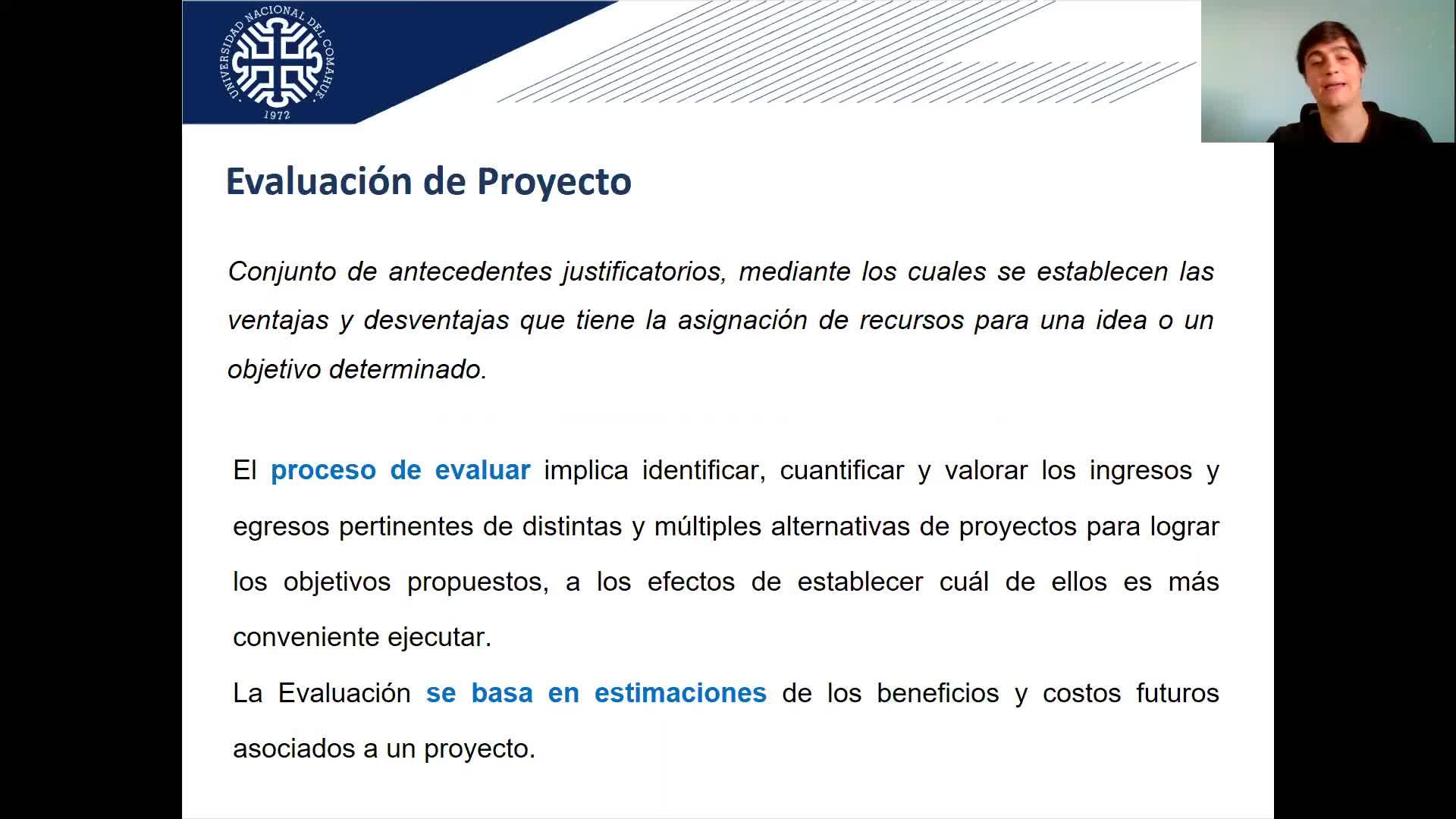 Organización y Evaluación de Proyectos FAIN