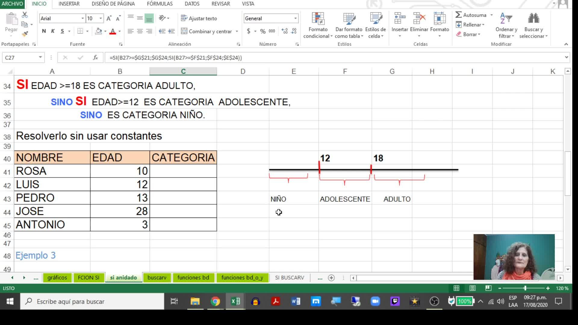 Excel 3_Función Si Anidada y Función BuscarV
