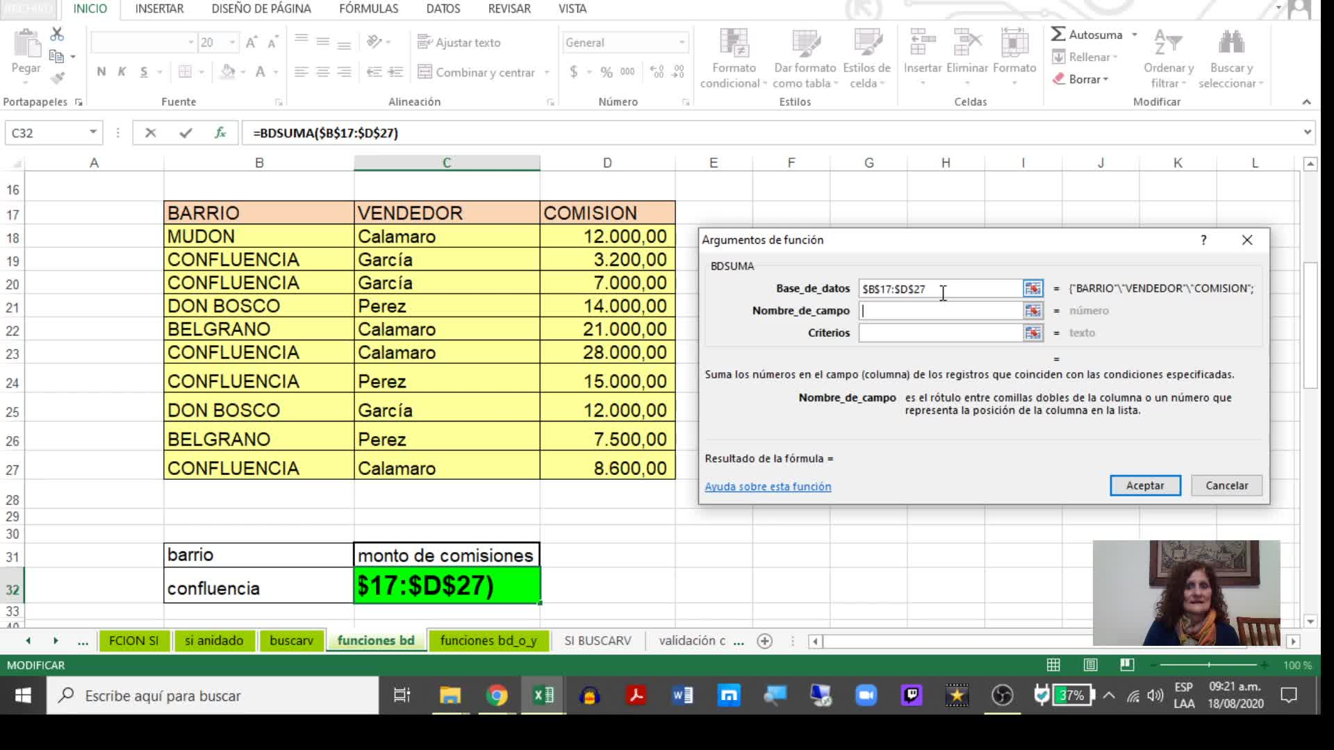 Excel 4_ Funciones BD