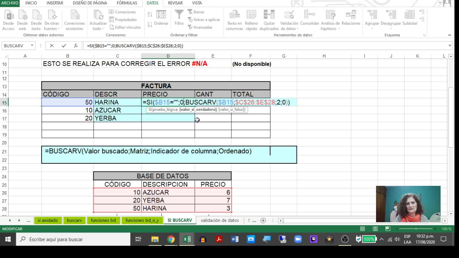 Excel 6_ SI Buscarv y Validación de datos