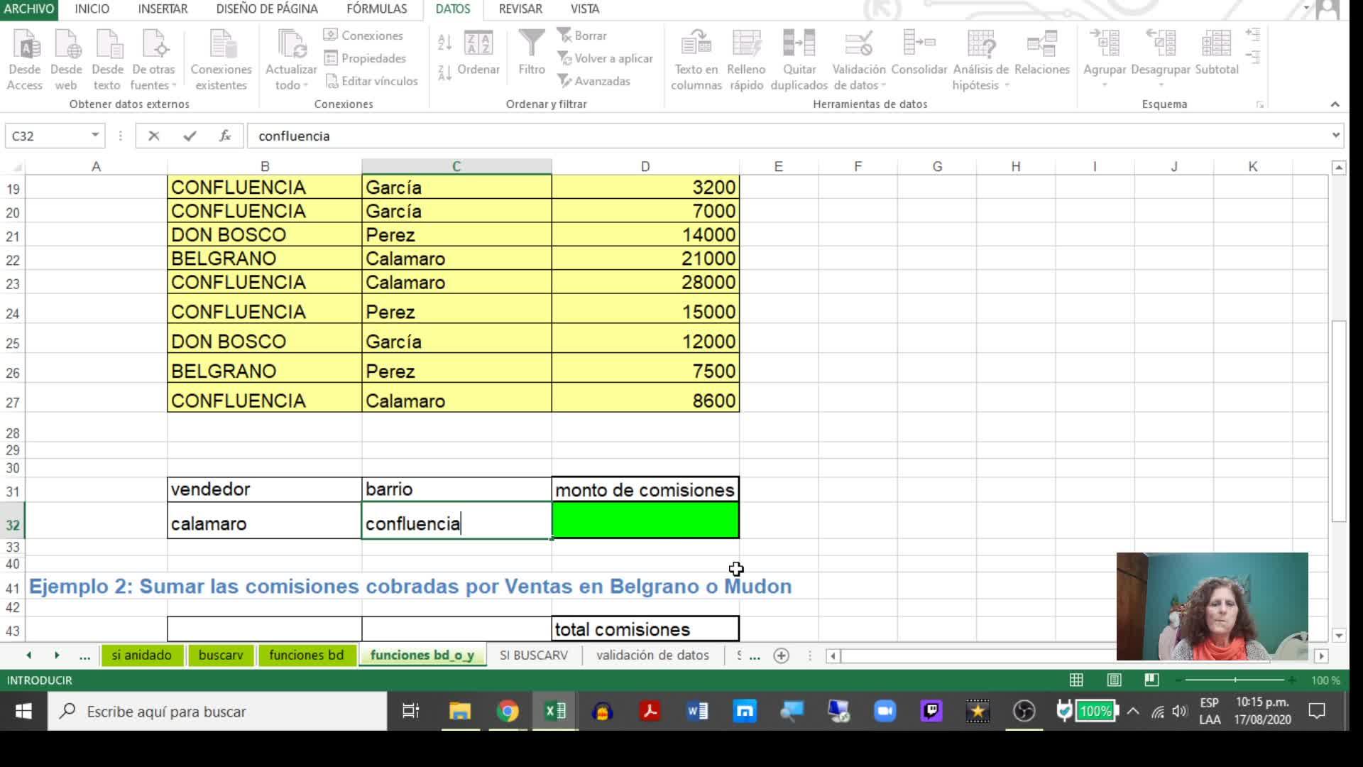 Excel 5_ Función BD con varios criterios