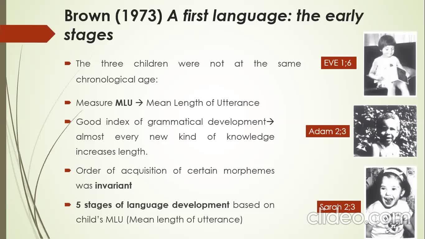 19_08_First Language Development_Brown1973