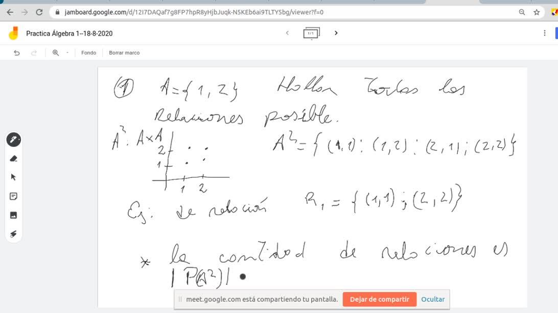 Álgebra II. Clase practica del día martes 18