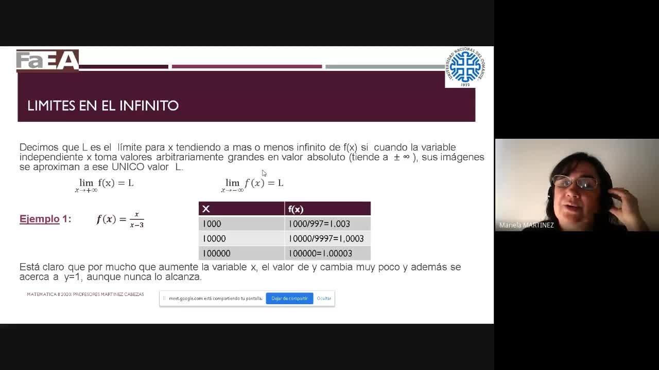 Clase de Matemática II  (Rec) 20-08-2020 - 1era Parte