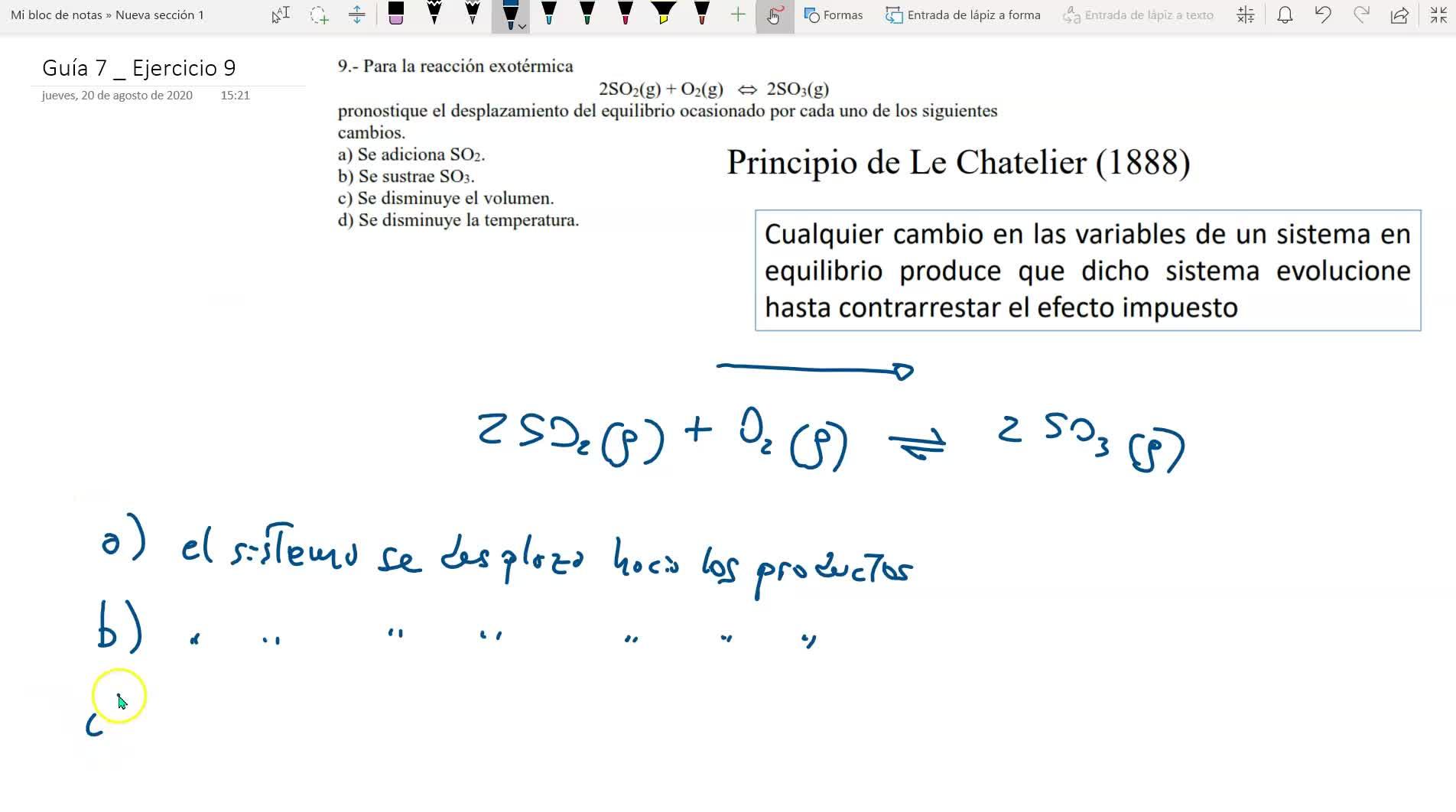 guía de equilibrio químico _ ejercicio 9