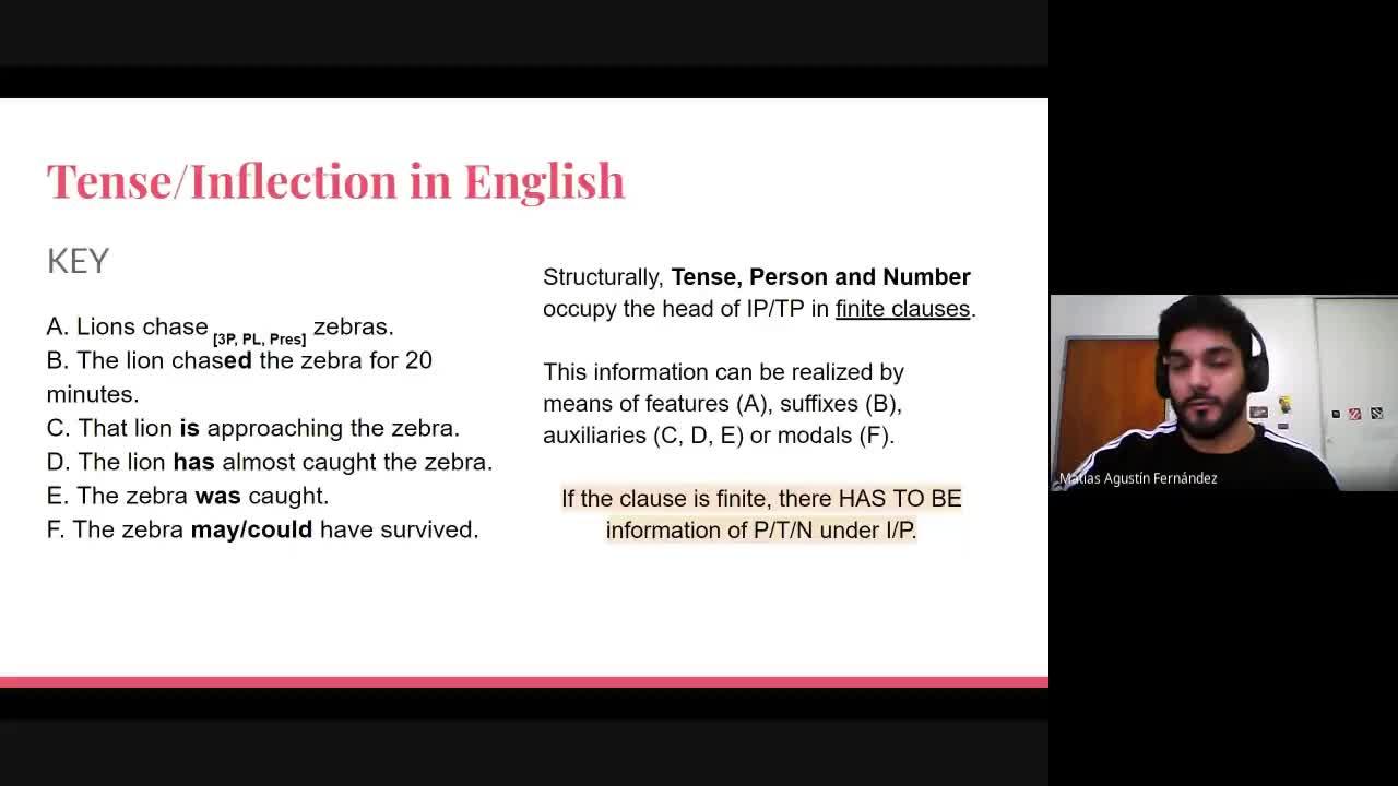 English Grammar II - Lesson 25th August