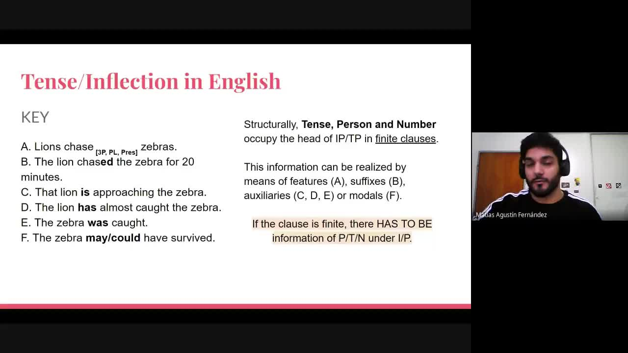 English Grammar II - Lesson 25th August