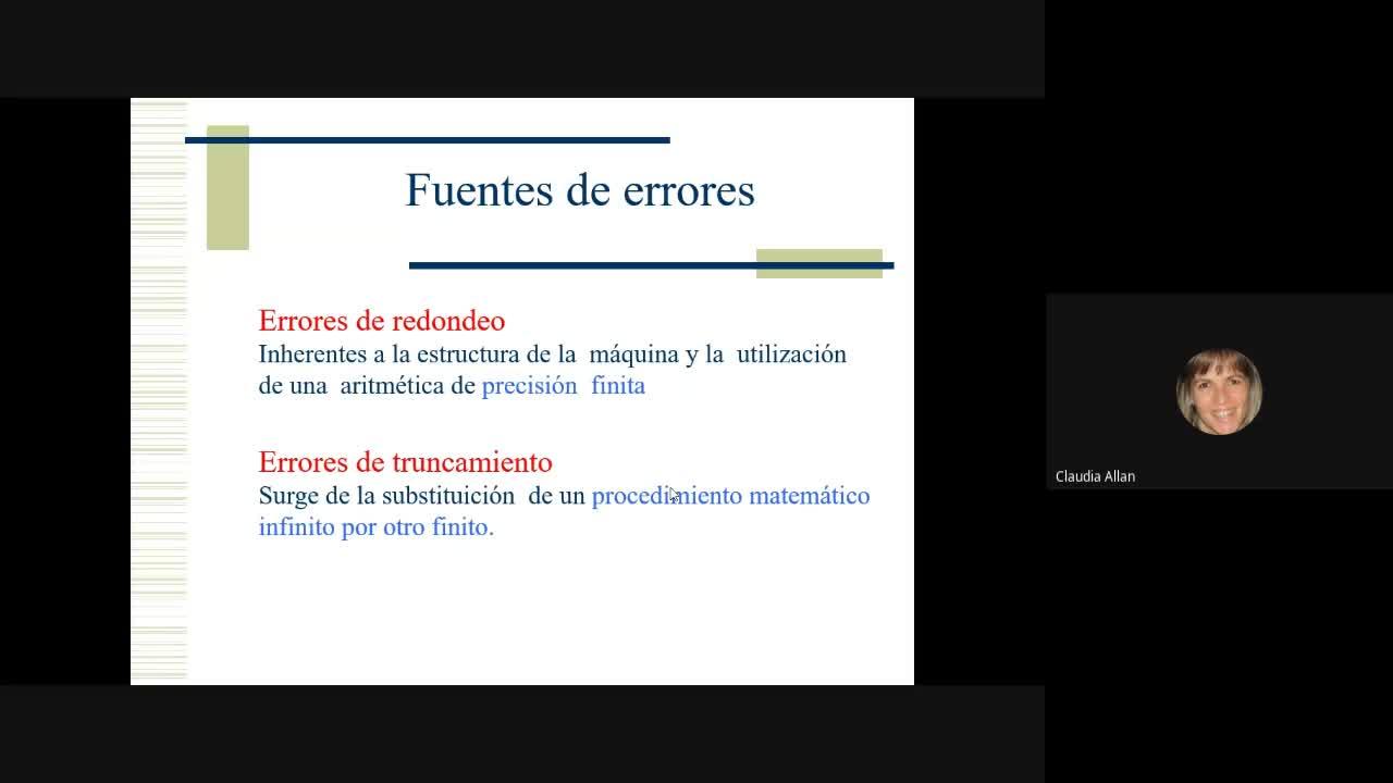 Cálculo Numérico - Clase teoría 31/8