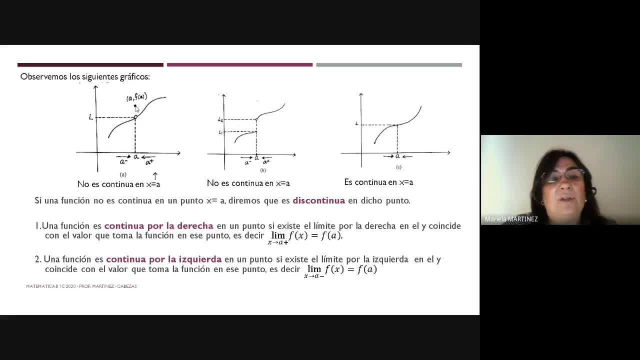 Clase Teórica (01-09-20)- Unidad II-Continuidad-2da. Parte
