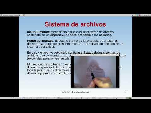 UNCOMA - TUASSL - ASA Almacenamiento 1.4: sistemas de archivos