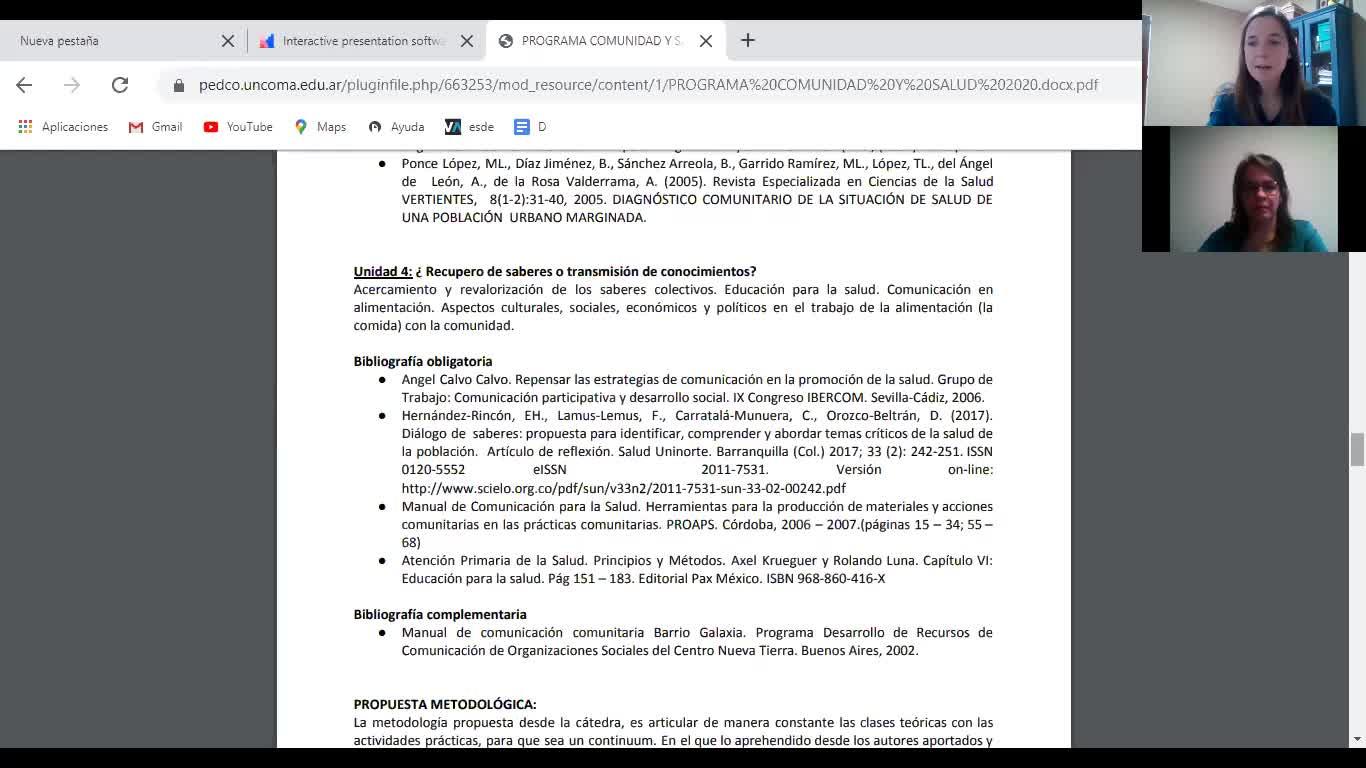 COMUNIDAD Y SALUD/CLASE INICIAL/SALOMONE