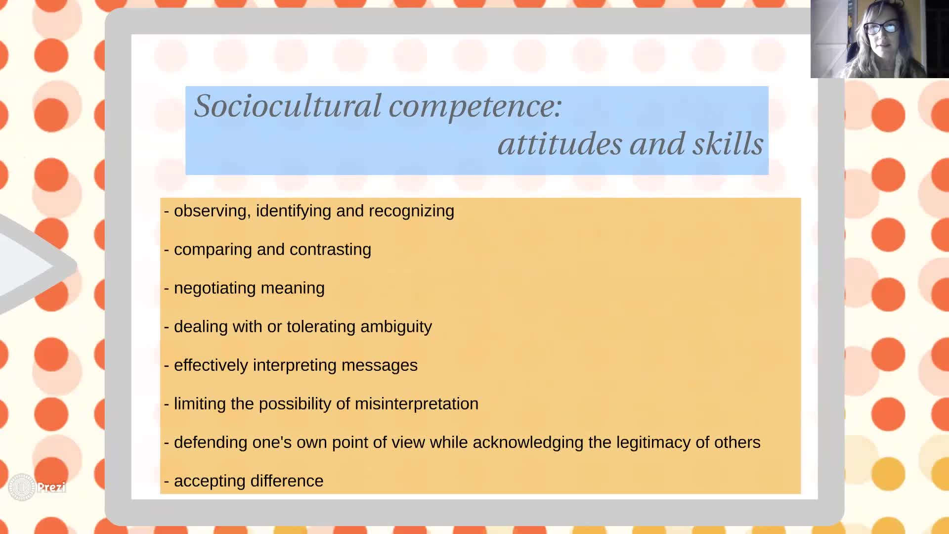 Sociocultural Competence