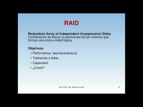 UNCOMA - TUASSL - ASA Almacenamiento 1.7: RAID Introduccin