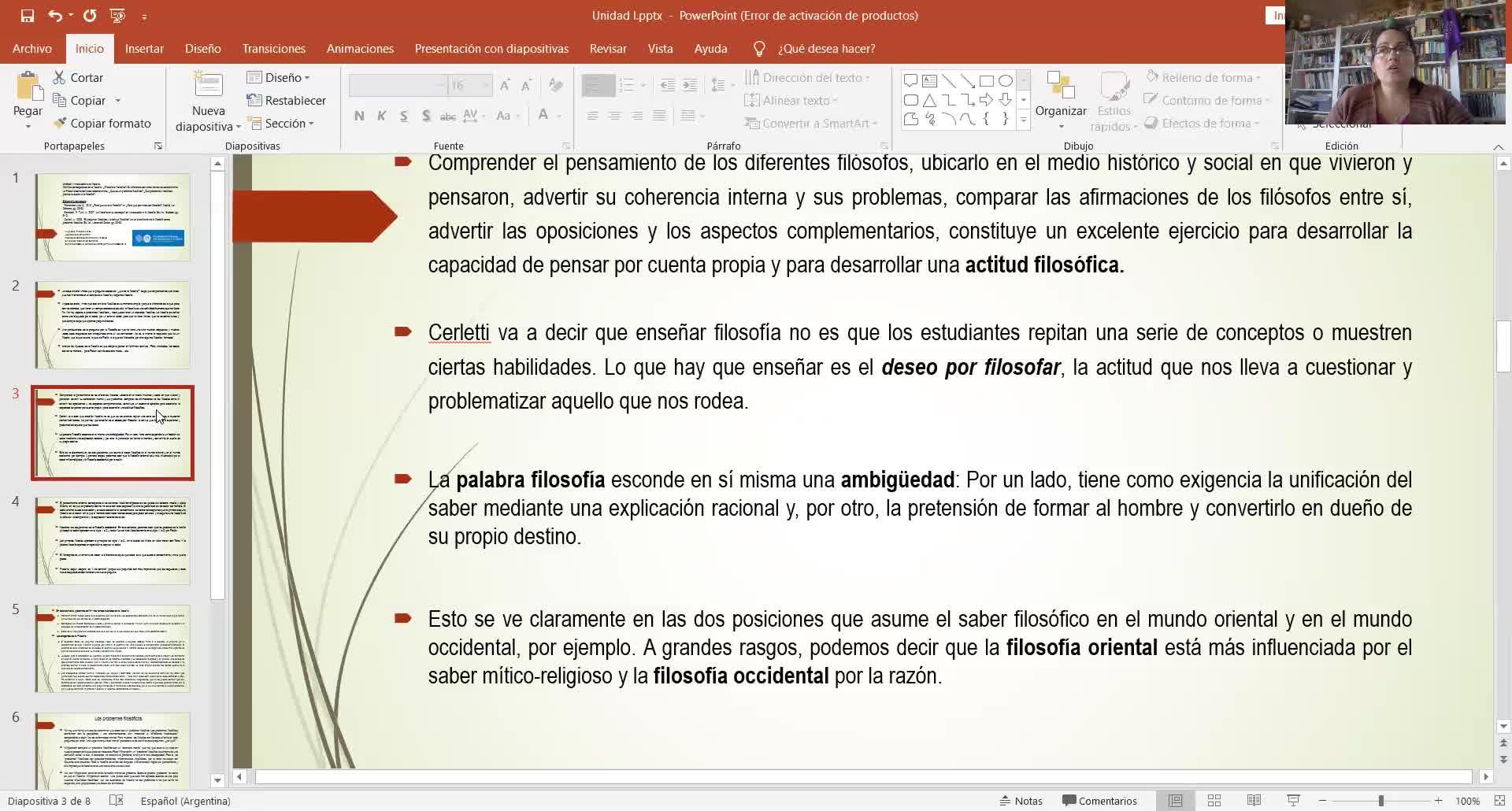 Clase-Unidad 1-Qué es la filosofía-Filosofía y Etica-FACIAS-NQN