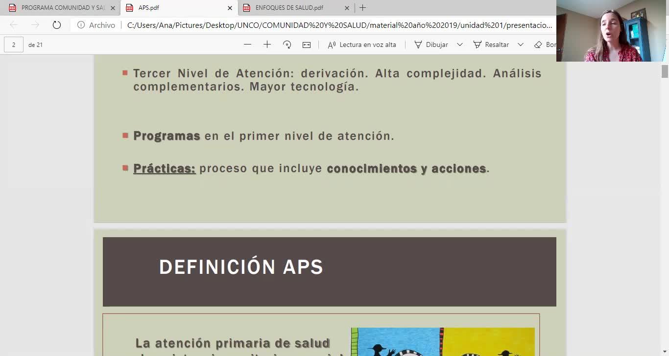 COMUNIDAD Y SALUD/ APD Y DSS/SALOMONE