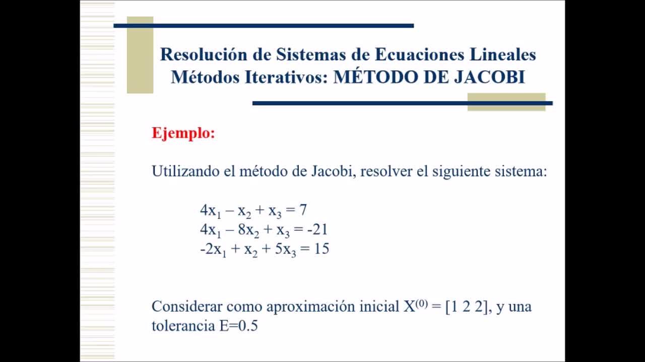 Video 10 Cálculo Numérico