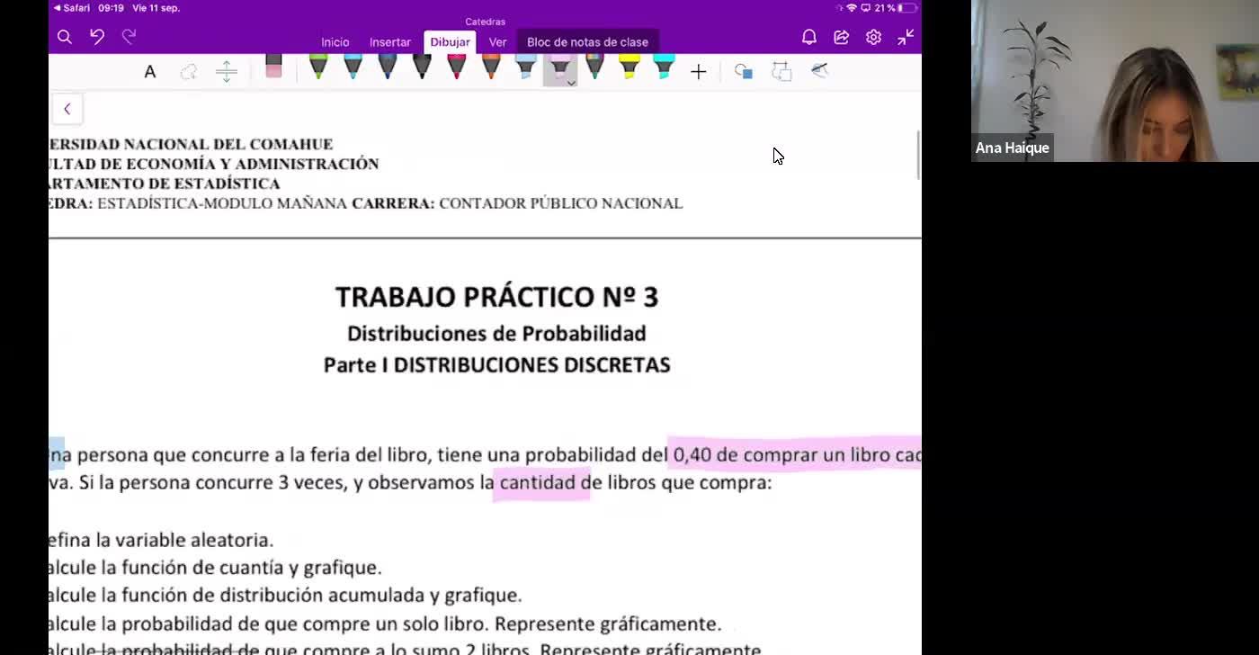 Estadistica CPN -Clase práctica 11/09/2020 - Variable aleatoria