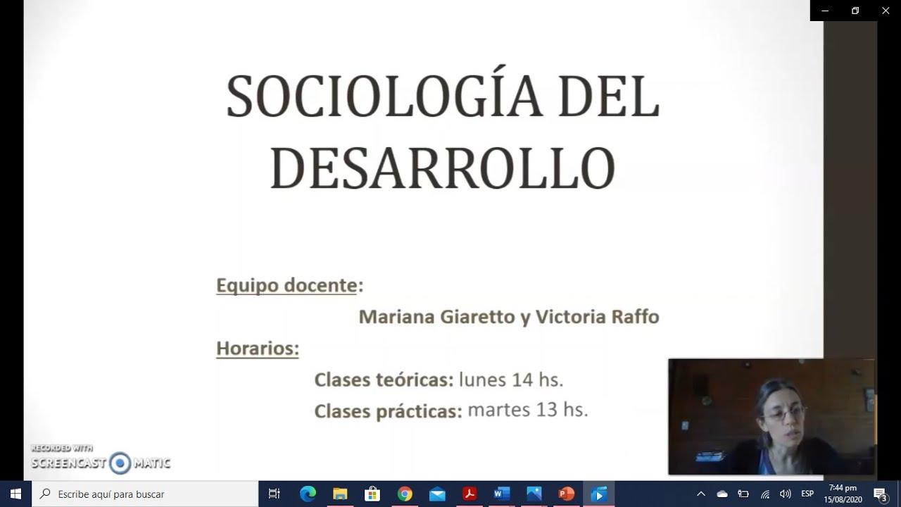 FADECS/Lic. Servicio Scoial/ Sociología del Desarrollo (Módulo Nqn.) Prof. Giaretto -Teórico N° 1 Sociología del Desarrollo-