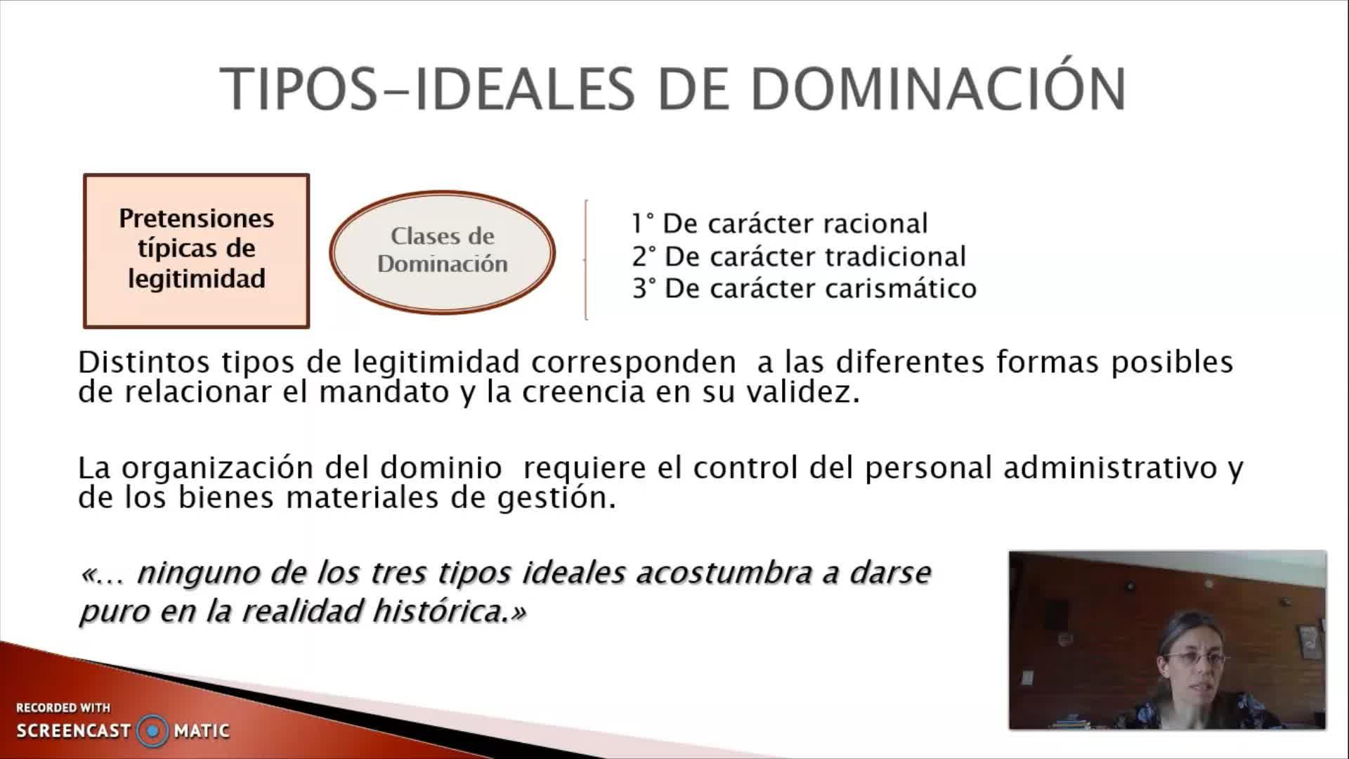 FADECS/Lic. Sociología/Sociología Política I/Prof. Giaretto -Teórico N° 4 Weber-