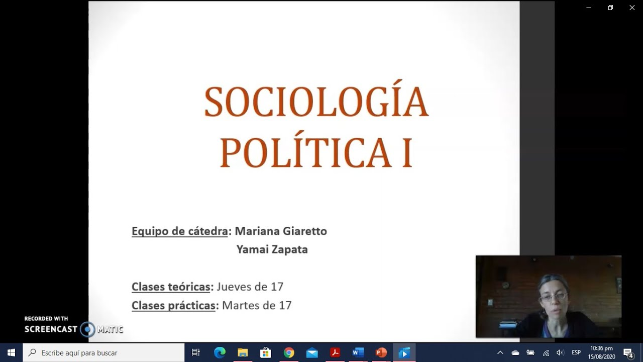 FADECS/Lic. Sociología/Sociología Política I/Prof.Giaretto -Teórico N° 1-