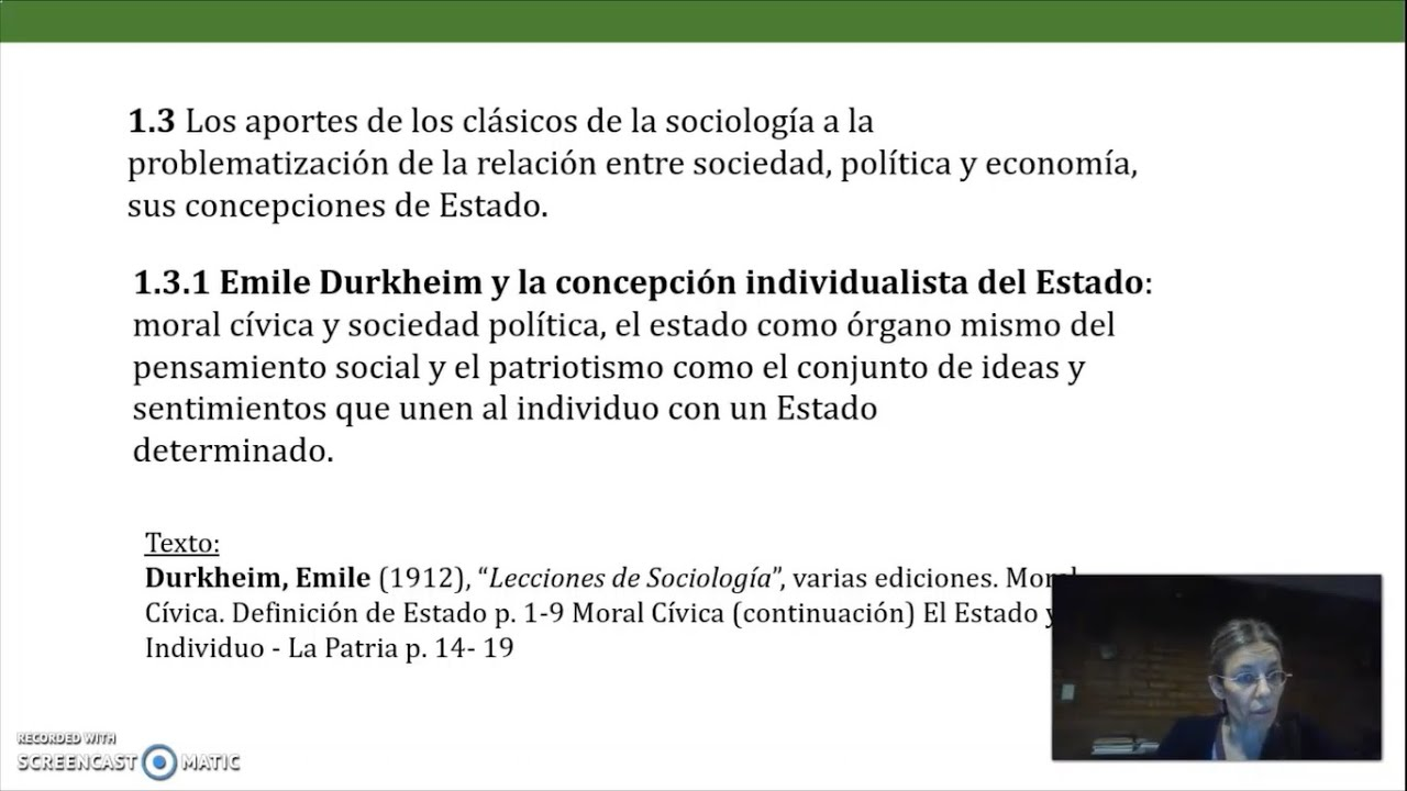 FADECS/Lic. Sociología/ Sociología Política I/ Prof. Giaretto -Teórico N° 2 Durkheim-