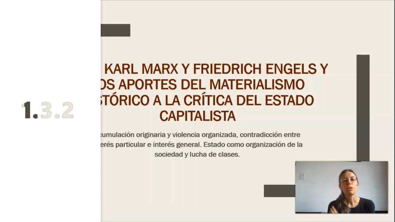 FADECS/Lic. Sociología/ Sociología Política I/ Prof. Giaretto -Teórico N° 3 Marx (Heinrich)-