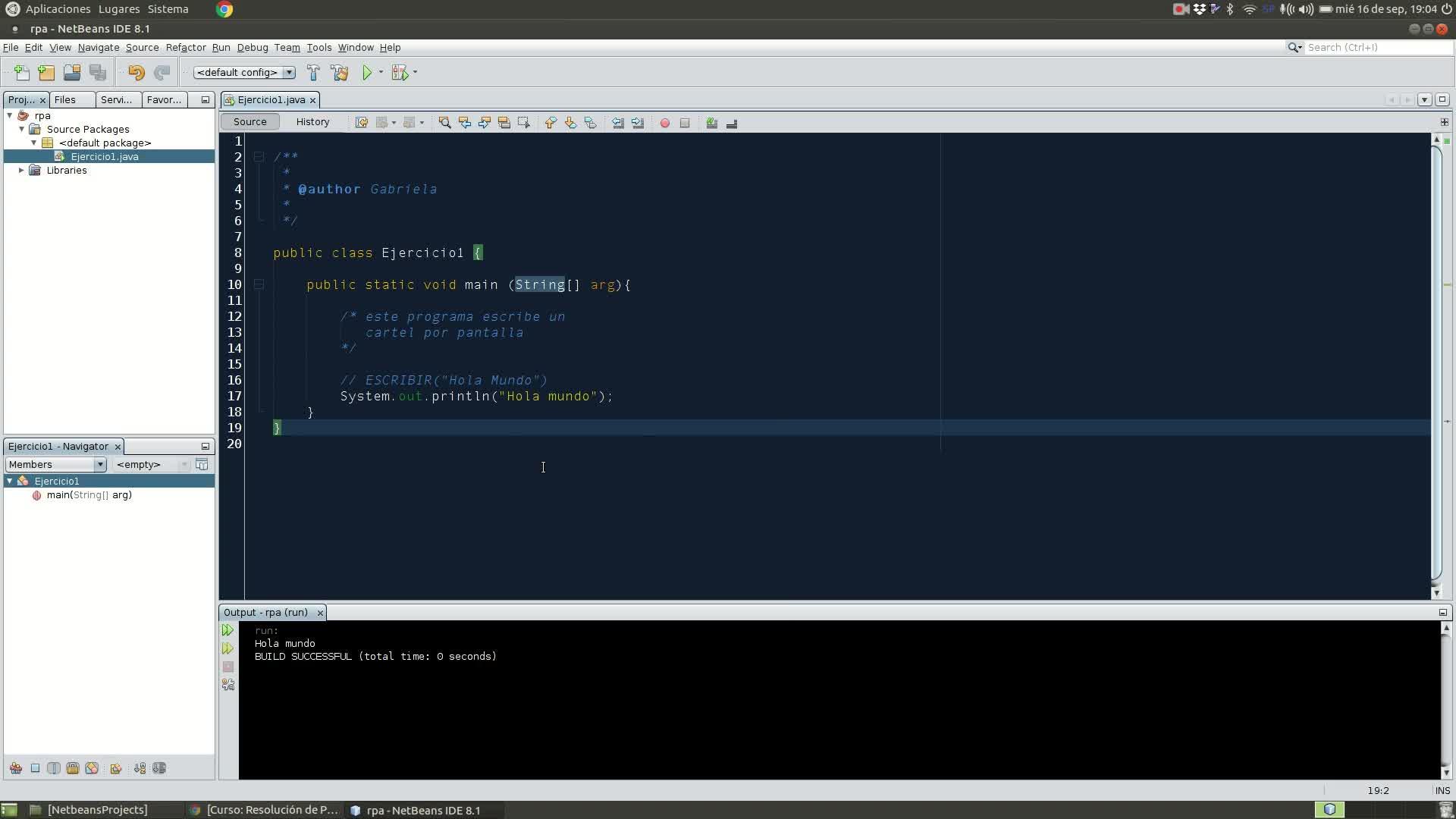 RPA - Mi Primer Proyecto Netbeans