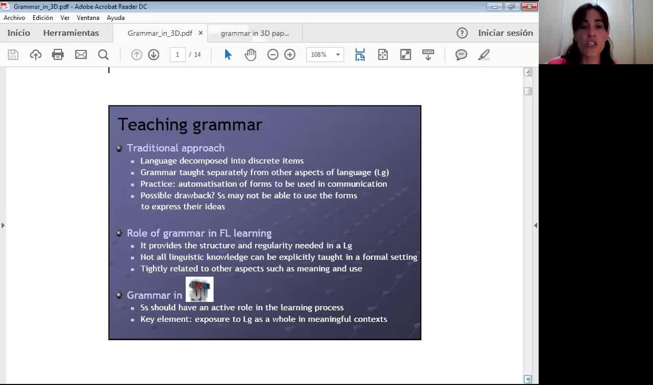 Grammar in 3D - 22nd September