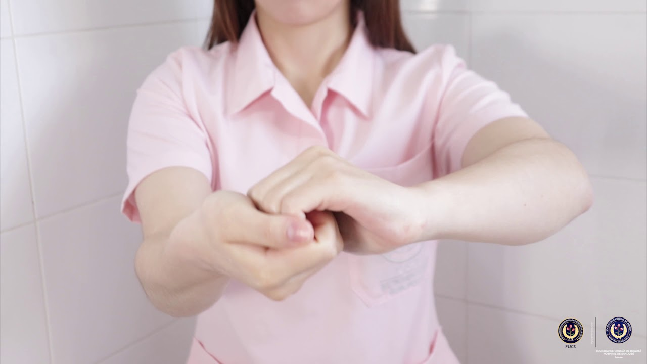 Lavado de manos con gel antibacterial