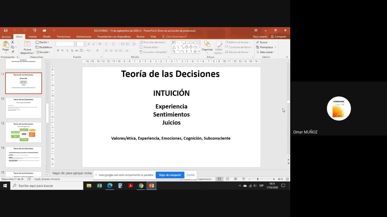 Clase Teoría de la decisión 2da parte 17-09-20