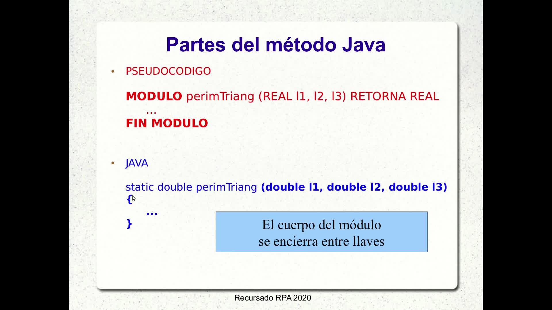 RPA - Video 2.10: Modularización en Java